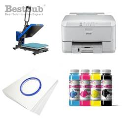 T-shirt printing kit Epson WP-4095DN + PLUS-PB4050MD Sublimation Thermal Transfer