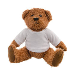 Teddy Bear 18 cm with t-shirt for sublimation - brown