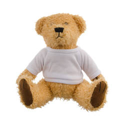 Teddy Bear 18 cm with t-shirt for sublimation - light brown