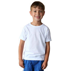 Toddler Basic Short Sleeve - White