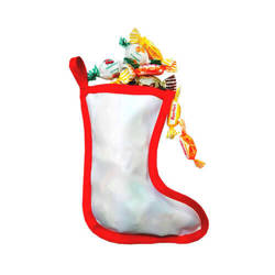 Two-colour Christmas mini sock for sublimation printing
