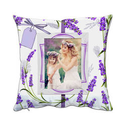 Two-colour microfibre cover 38 x 38 cm for sublimation printing - Lavender