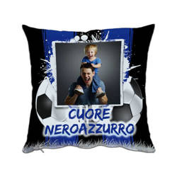 Two-colour satin cover 38 x 38 cm for sublimation printing - Blue Ball