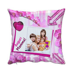 Two-colour satin cover 38 x 38 cm for sublimation printing - Fuxia