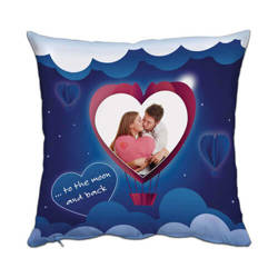 Two-colour satin cover 38 x 38 cm for sublimation printing - Heart