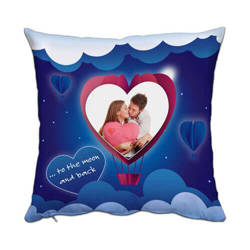 Two-colour satin cover 38 x 38 cm for sublimation printing - Heart - new