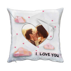 Two-colour satin cover 38 x 38 cm for sublimation printing - I love You