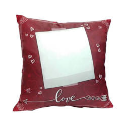 Two-colour satin cover 38 x 38 cm for sublimation printing - Love