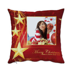 Two-colour satin cover 38 x 38 cm for sublimation printing - Merry Christmas