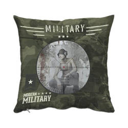 Two-colour satin cover 38 x 38 cm for sublimation printing - Military