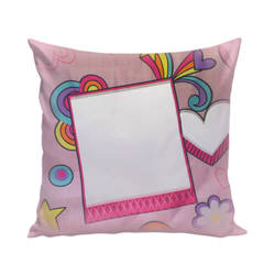 Two-colour satin cover 38 x 38 cm for sublimation printing - Pink