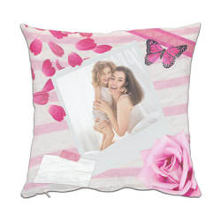 Two-colour satin cover 38 x 38 cm for sublimation printing - Rose