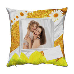Two-colour satin cover 38 x 38 cm for sublimation printing - Sun