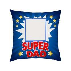 Two-colour satin cover 38 x 38 cm for sublimation printing - Super Dad