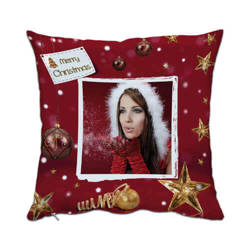 Two-colour satin cover 38 x 38 cm for sublimation printing - XMAS