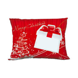 Two-colour satin cover 55 x 40 cm for sublimation printing - Merry Christmas