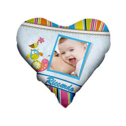Two-colour satin hearth-shaped cover for sublimation printing - Blue