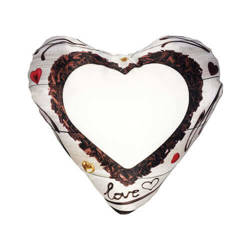 Two-colour satin hearth-shaped cover for sublimation printing - Chocolate heart