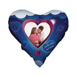 Two-colour satin hearth-shaped cover for sublimation printing - Heart