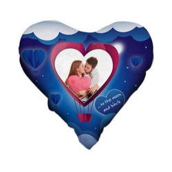 Two-colour satin hearth-shaped cover for sublimation printing - Heart - new