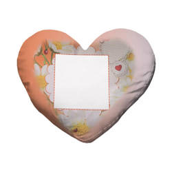 Two-colour satin hearth-shaped cover for sublimation printing - Spring
