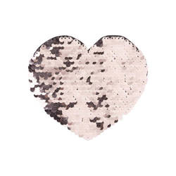 Two-colour sequins for sublimation printing and textile applications – champagne heart 12 x 10,5 cm