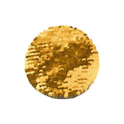Two-colour sequins for sublimation printing and textile applications – gold circle Ø 10