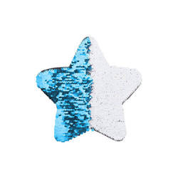 Two-colour sequins for sublimation printing and textile applications – light blue star