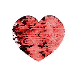 Two-colour sequins for sublimation printing and textile applications – red heart 12 x 10,5 cm