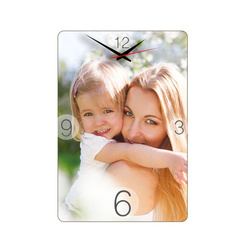 Wall MDF clock 19 x 28 cm for sublimation