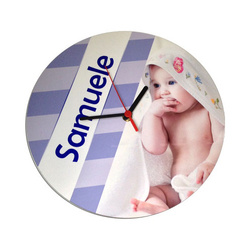 Wall MDF clock Ø 28 cm for sublimation