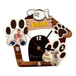 Wall MDF clock for sublimation - Dog house