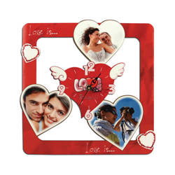 Wall MDF clock for sublimation - Love
