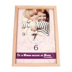 Wall clock in wooden frame == cm for sublimation