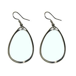 Water drop earrings Sublimation Thermal Transfer