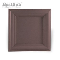 Wood and gypsum tile frame 10 x 10 cm SUBT49 Sublimation Thermal Transfer
