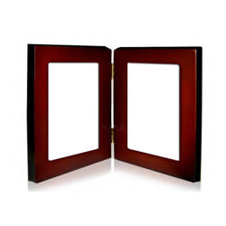Wooden photo frame with 2 metal plates Sublimation Thermal Transfer