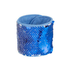 Wristband with two-colour sequins for sublimation - blue