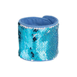 Wristband with two-colour sequins for sublimation - light blue