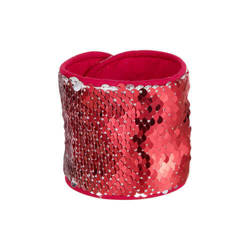 Wristband with two-colour sequins for sublimation - red