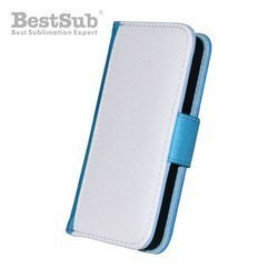 iPhone 4/4S eco leather case blue Sublimation Thermal Transfer