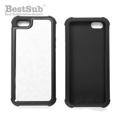 iPhone 5/5S case plastic-rubber black Sublimation Thermal Transfer