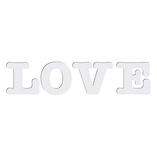 Decorative Mdf Letters 18 Cm Love Sublimation Transfer Love