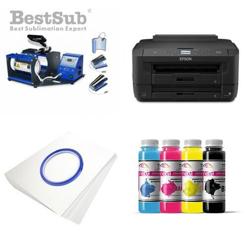 95377c661 Mug printing kit Epson WF-7210DTW + SB05V Sublimation Thermal ...