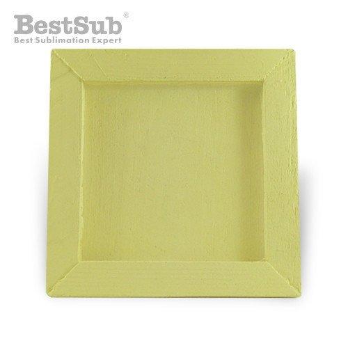 Wood and gypsum tile frame 10 x 10 cm SUBT33 Sublimation Thermal ...