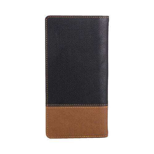 18,5 x 9,5 x 1,5 cm leather wallet for thermo-transfer printing