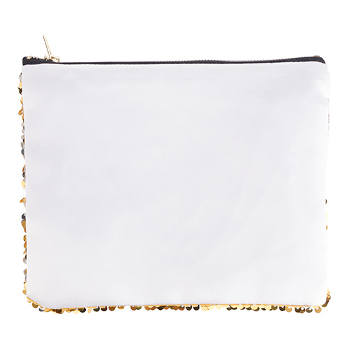20,5 x 16 cm toiletry bag with gold sequins for sublimation printing