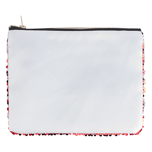 20,5 x 16 cm toiletry bag with red sequins for sublimation printing
