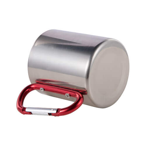 200 ml metal cup with snap hook  for sublimation - silver