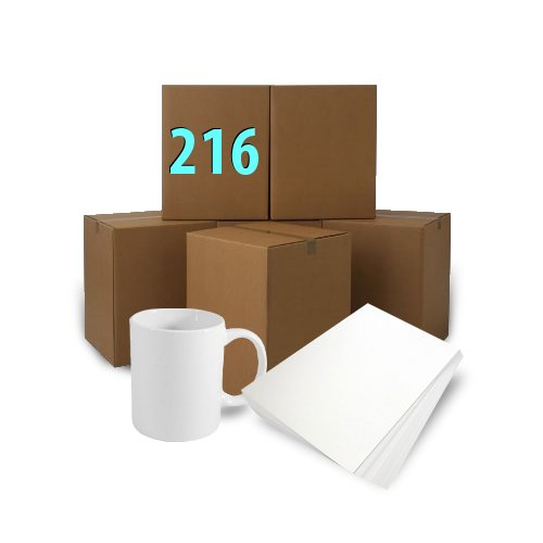 216 pcs white mugs  300 ml A+  + ream of sublimation paper A3 Sublimation Thermal Transfer